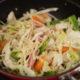 野菜炒めを作ってみたら、すごくおいしかった!